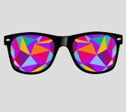 Okulary przeciwsłoneczni z abstrakcjonistycznymi geometrycznymi trójbokami. vect