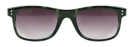 Okulary przeciwsłoneczni zieleni ramowego i czerwonego koloru obiektyw odizolowywający przeciw czystemu białemu tłu nikt Obrazy Stock