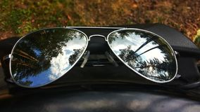 Okulary przeciwsłoneczni i odbicie Obrazy Stock