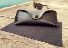 Okulary przeciwsłoneczni skrzynka Fotografia Stock