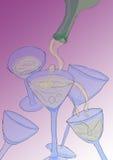 okulary szampania strona Obrazy Royalty Free