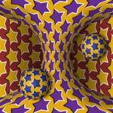 Okulistyczna ruchu złudzenia ilustracja Dwa sfery są obracaniem poruszająca hiperboloida wokoło Abstrakcjonistyczna fantazja w su Zdjęcie Royalty Free
