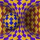 Okulistyczna ruchu złudzenia ilustracja Sfera jest płodozmienna poruszająca hiperboloida wokoło Abstrakcjonistyczna fantazja w su Obrazy Royalty Free
