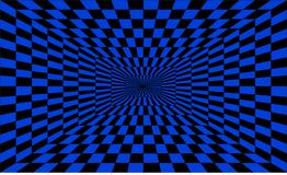 Okulistycznego złudzenia tunel Punkt perspektywa Obraz Stock