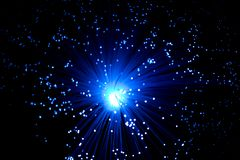 okulistyczni błękitny włókna Zdjęcia Stock