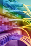 Okulistyczni kable sieć serwery i Obraz Stock