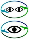 Okulistyczny logo Zdjęcia Royalty Free