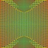 Okulistyczny sztuki tło z 3d złudzeniem, szpotawa metal siatka na błękitnym terenie ilustracji