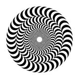 Okulistyczny złudzenie pojemność Round wektor odizolowywał czarny i biały wzór na białym tle ilustracji