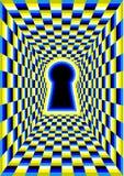 Okulistyczny złudzenie z dziurą ilustracja wektor