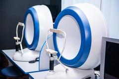 Okulistyka medyczny instrument w kliniki biurze Oko opieki zdrowotnej pojęcie Selekcyjna ostrość Obraz Royalty Free