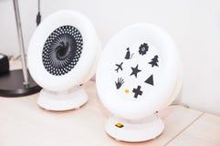 Okulistyka medyczny instrument w kliniki biurze Oko opieki zdrowotnej pojęcie Selekcyjna ostrość Zdjęcia Royalty Free