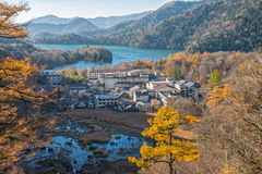 Okunikko and Yuno lake in autumn season. Okunikko and Yuno lake in autumn season, Nikko, Japan Royalty Free Stock Photography