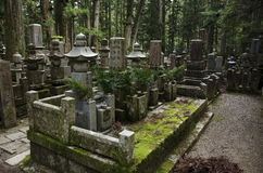 Okunoin cemetary Royalty Free Stock Photos