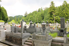 Okunoin cemetery - more recent region Royalty Free Stock Photos