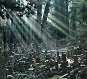 Okunoin Cemetery at Mount Koya. Japan Royalty Free Stock Photography