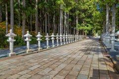 Okunoin Temple with Graveyard Area at Koyasan (Mt. Koya) in Wakayama. Japan Royalty Free Stock Photos