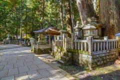 Okunoin Temple with Graveyard Area at Koyasan (Mt. Koya) in Wakayama Royalty Free Stock Images
