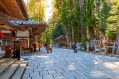 Okunoin Temple with Graveyard Area at Koyasan (Mt. Koya) in Wakayama Stock Photo