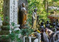 Okunoin Temple with Graveyard Area at Koyasan (Mt. Koya) in Wakayama stock images