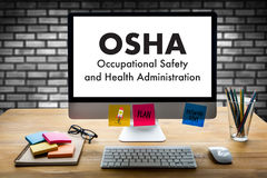 Okupacyjnego bezpieczeństwa i zdrowie administraci OSHA biznes zespala się fotografia royalty free