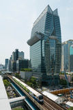 The Okura Prestige Bangkok and BTS skytrain in Bangkok Royalty Free Stock Photos
