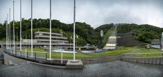 The Okurayama Jump Ski Stadium, Sapporo, Japan royalty free stock photography