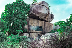 ` Okuta-gbokuta Lori-` Hügel im Aufheben Ekiti Nigeria lizenzfreie stockfotos