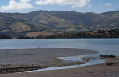Okuti river. In South Island of New Zeland Royalty Free Stock Images
