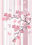 okwitnięcia wiśni japończyk ilustracja wektor