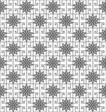 Okwitnięcie wzór z kwadratowymi kształtami ilustracji