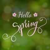 Okwitnięcie wiosny i drzewa literowanie Zdjęcia Royalty Free