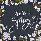 Okwitnięcie wiosny i drzewa literowanie Zdjęcie Stock