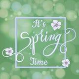 Okwitnięcie wiosny i drzewa literowanie Zdjęcie Royalty Free