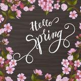 Okwitnięcie wiosny i drzewa literowanie Obrazy Royalty Free