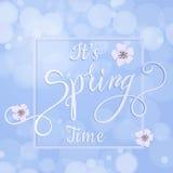 Okwitnięcie wiosny i drzewa literowanie Obrazy Stock