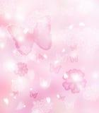 Okwitnięcia i motyle Ilustracyjni Obrazy Royalty Free