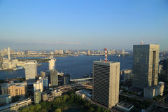 Okyo cityscape and sea, Japan Royalty Free Stock Image