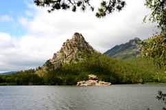 Okzhetpes Rock And Lake Borovoe, State National Natural Park Royalty Free Stock Image