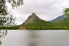 Okzhetpes rock and lake Borovoe Royalty Free Stock Photo