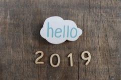 Olá! 2019 Imagem de Stock Royalty Free