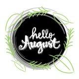 Olá! august Fotografia de Stock