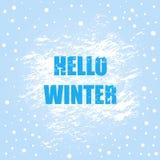Olá! bandeira do inverno com escova ilustração royalty free