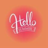 Olá! cópia de cor escrita à mão do verão ilustração royalty free