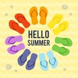 Olá! cartão de verão Imagens de Stock