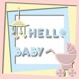 Olá! cartão do bebê Fotos de Stock