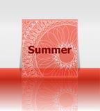 Olá! cartaz do verão Fundo do verão Efetua o cartaz, quadro Boas festas cartão, cartão de férias feliz Aprecie seu verão ilustração stock
