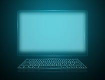 Olá! computador da tecnologia com teclado Fotografia de Stock