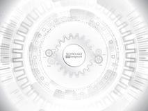 Olá! conceito digital abstrato da tecnologia da tecnologia Pensão radial do computador Fotos de Stock