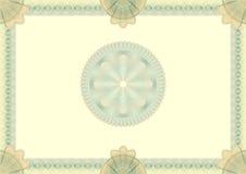 Olá! detalhou o certificado em branco do guilloche Imagem de Stock Royalty Free
